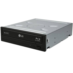 BH16NS40, BD 16x / DVD 16x / CD 48x, Blu-ray Disc Burner, SATA, 5.25-Inch, Black, Retail Optical Drive