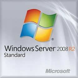 Windows Server Standard 2008 R2 64-bit Edition w/ SP1, 1-4 CPU, 5 Clients, OEM