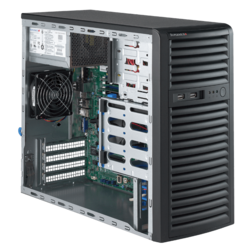 Tower Server - Supermicro SuperServer 5039D-i Xeon® E3-1200 v6 SAS/SATA Mid-Tower Server Computer