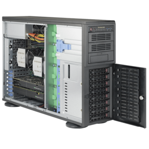 Supermicro® SuperWorkstation 7048A-T Dual Xeon® E5 SATA 4U Rack/Tower Workstation