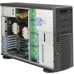 Supermicro® SuperWorkstation 7047A-T Dual Xeon® E5 STA 4U Rack/Tower Workstation