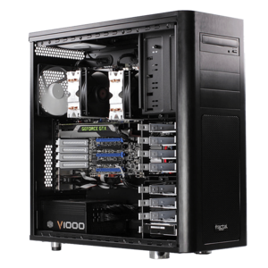Dual Xeon® E5 C612 Fourteen-Core Low-Noise Graphics Computer Workstation