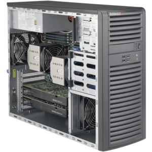 Supermicro® SuperWorkstation 7038A-I Dual Xeon® E5 SATA 3U Rack/Tower Workstation