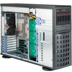 7048R-C1RT4+ Dual Xeon® E5-2600 v3/v4 SAS/SATA 4U Rack/Tower Server