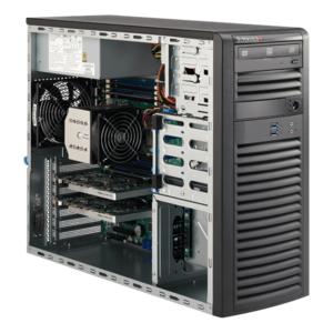 Supermicro® SuperWorkstation 5038A-I Xeon® E5 SATA Mid Tower Workstation