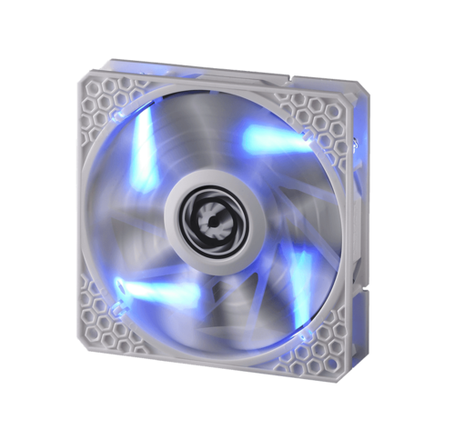 Spectre Pro LED 140mm Case Fan w/ Blue LEDs, 1200 RPM, 86.73 CFM, 22.8 dBA (White)