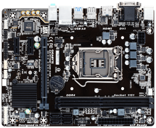 A-H110M-S2H GSM Intel H110 Chipset Socket LGA 1151 DDR4 32GB mATX Desktop Motherboard