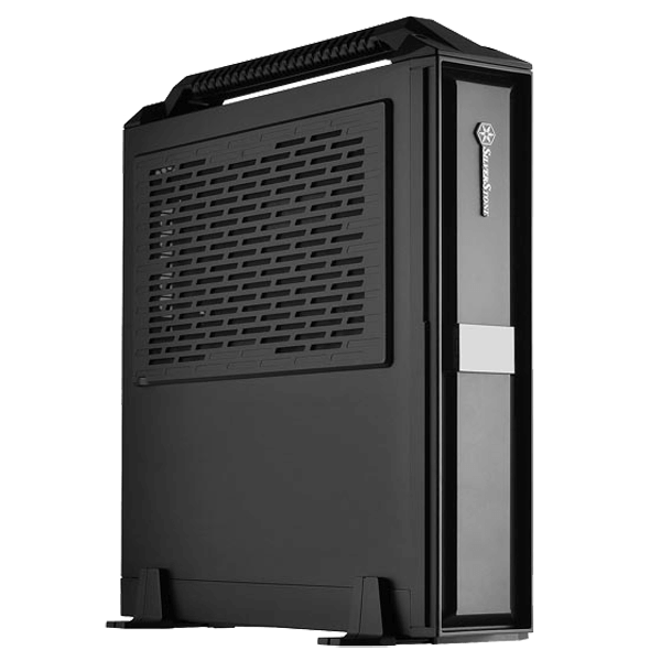 Milo Series ML08 Black with Handle, No PSU, SFX, Plastic/Steel, Mini-ITX, Slim Computer Case