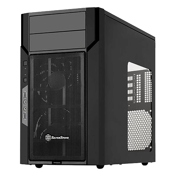 Kublai Series KL06B-W w/ Window, No PSU, microATX, Black, Mini Tower Case