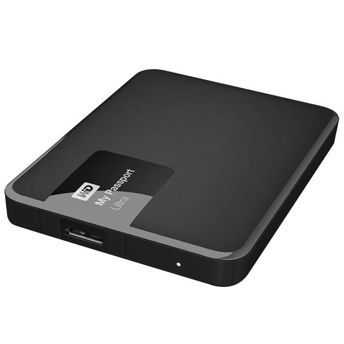 500GB WD My Passport Ultra, External Hard Drive, USB 3.0, Premium Portable, Black, Retail