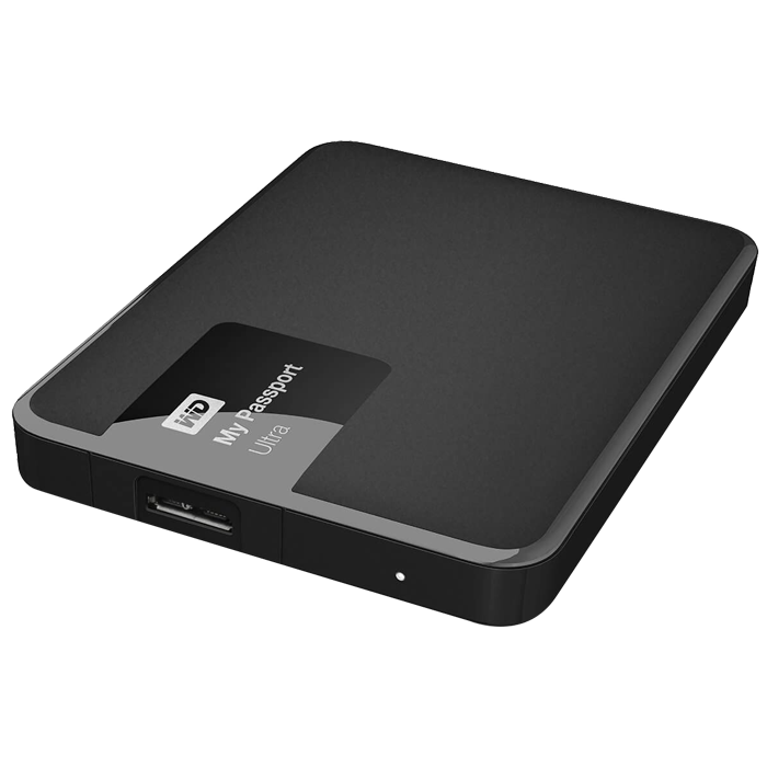 1TB WD My Passport Ultra, External Hard Drive, USB 3.0, Premium Portable, Black, Retail