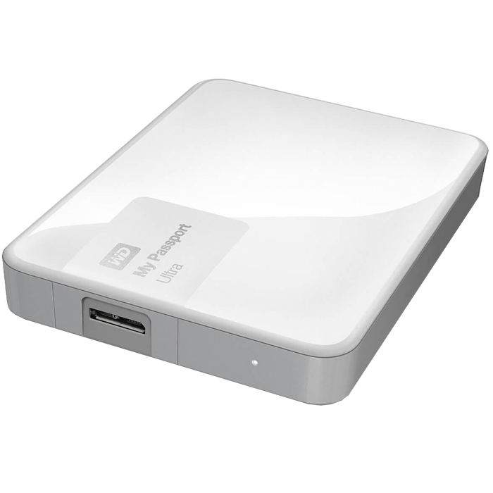 2TB WD My Passport Ultra, External Hard Drive, USB 3.0, Premium Portable, White, Retail
