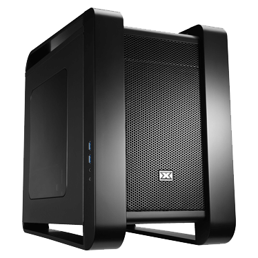 Aquila Black Steel Compatible With Micro ATX and Standard ATX Power Supply Mini-ITX Cube Chassis