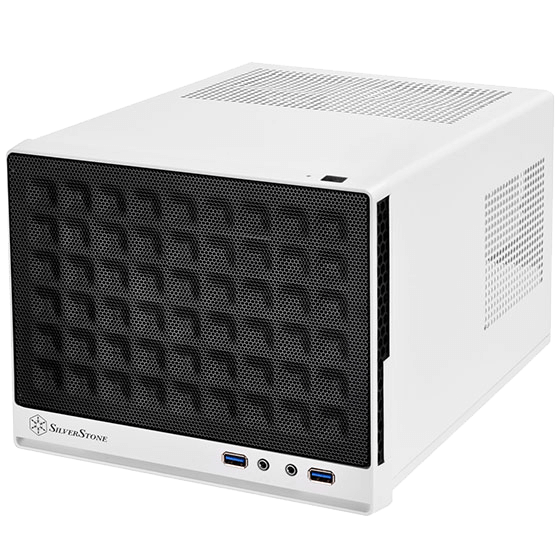 Sugo Series SST-SG13WB, No PSU, Mini-ITX, White/Black, Mini Cube Case
