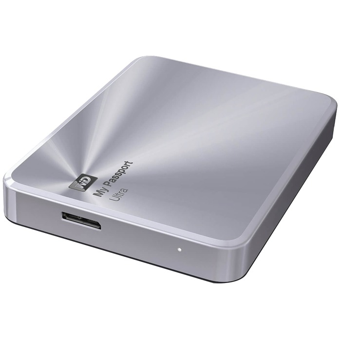 3TB WD My Passport Ultra Metal, USB 3.0, Premium Portable, Silver, Retail External Hard Drive