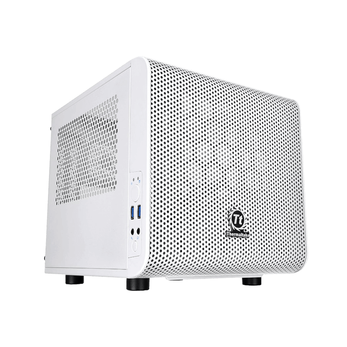 Core Series V1 Snow Edition w/ Window, No PSU, Mini-ITX, White, Mini Cube Case