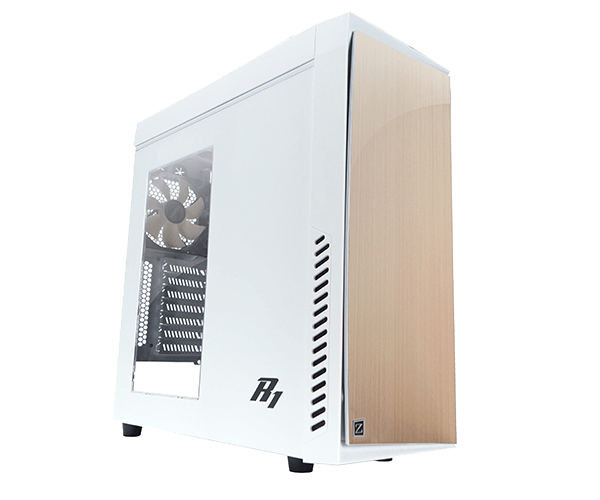 R1 (White) White No PSU ATX Mid Tower Computer Case