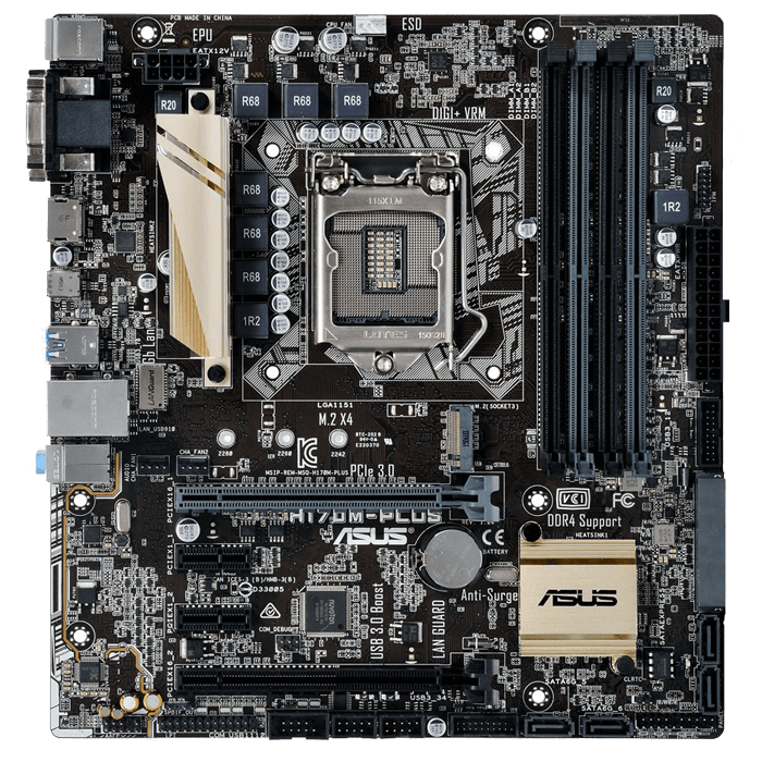 H170M-PLUS/CSM Intel H170 Chipset Socket LGA 1151 DDR4 64GB Micro ATX Desktop Motherboard