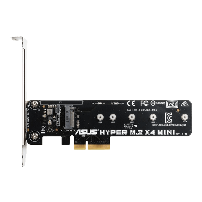 Hyper M.2 X4 Mini Card M.2 to 32Gbit/s with PCIE slot flexibility Retail