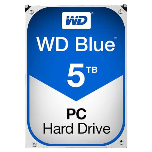 WD BLUE 5 TB Internal Hard Drive SATA 6Gb/s 5400 rpm 64 MB Buffer OEM