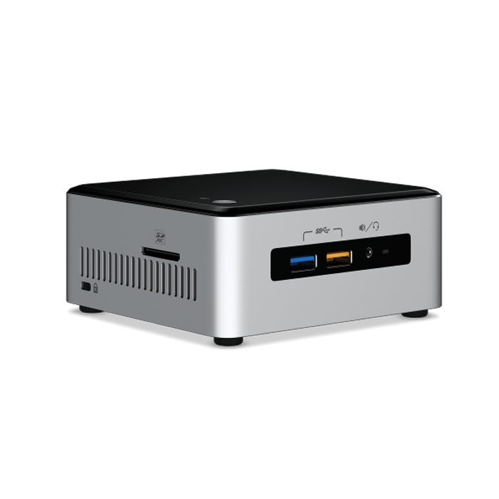 NUC6I3SYH Barebone, Intel® Core™ i3-6100U 2.3GHz, DDR4-2133 SODIMM 32GB / 2, M.2 / 1, SATA3 / 1, mini DisplayPort / 1, HDMI / 1, USB 3.0 / 4, USB 2.0 / 2, WiFi, BT, GbLAN, 65W PSU