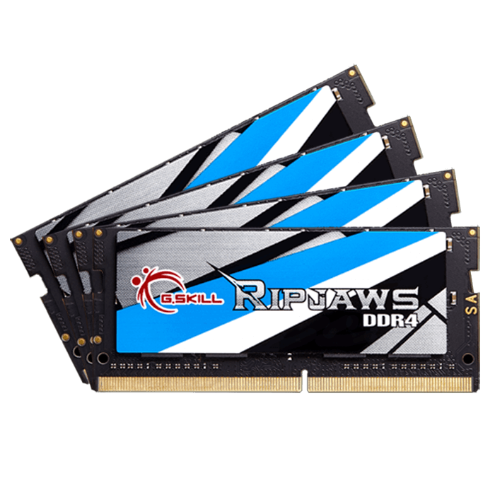 32GB Kit (4 x 8GB) Ripjaws DDR4 2400MHz, PC4-19200, CL16 (16-16-16) 1.2V, Non-ECC, Black, SO-DIMM Memory