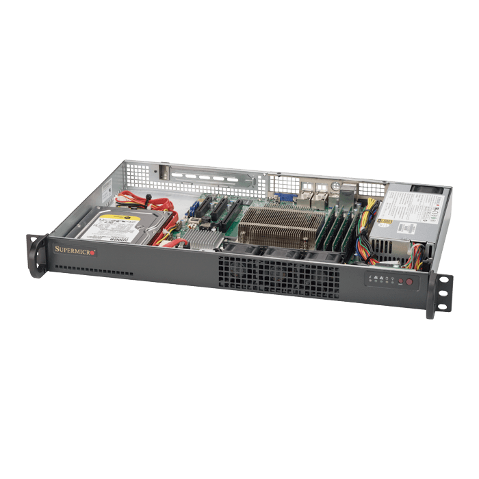 SuperServer 5019S-L, 1U, Intel C232, 2x SATA, 4x DDR4, Dual 1Gb Ethernet, 200W PSU