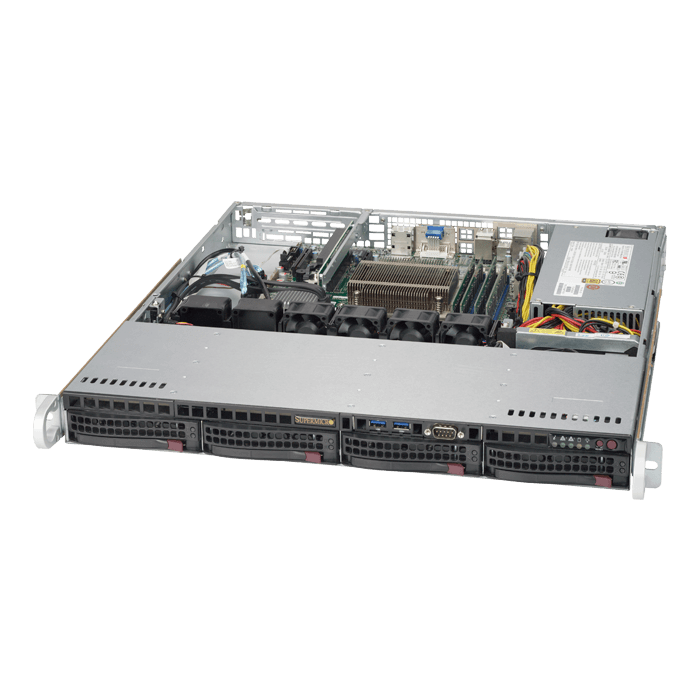 SuperServer 5019S-M2, 1U, Intel C236, 4x SATA, 4x DDR4, Dual 1Gb Ethernet, 350W PSU