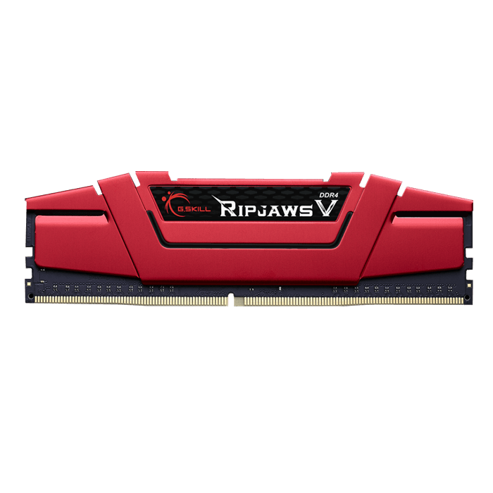 8GB Ripjaws V DDR4 2400MHz, PC4-19200, CL15 (15-15-15) 1.2V, Non-ECC, Red, DIMM Memory
