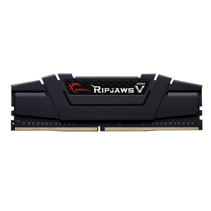 16GB Ripjaws V DDR4 3200MHz, PC4-25600, CL16 (16-18-18) 1.2V, Non-ECC, Black, DIMM Memory