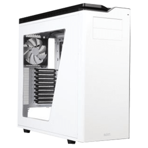 H630 Glossy White, No PSU, SECC/Steel/Plastic, ATX, Full Tower, Computer Case