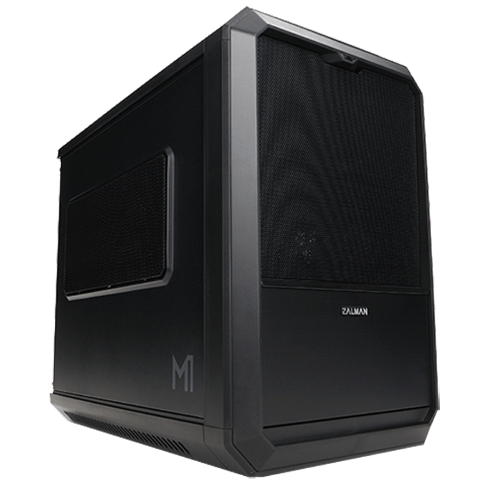 M1 Black, No PSU, Aluminum, Mini-ITX, Mini Tower, Computer Case