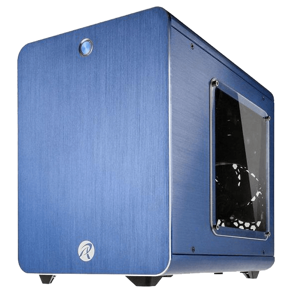 Metis w/ Window, No PSU, Mini-ITX, Blue, Mini Tower Case
