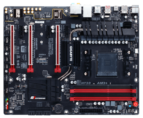 G1 Gaming Series GA-990FX-Gaming, AMD 990FX Chipset, AM3+, DDR3 32GB, USB 3.1, M.2, ATX Retail Motherboard