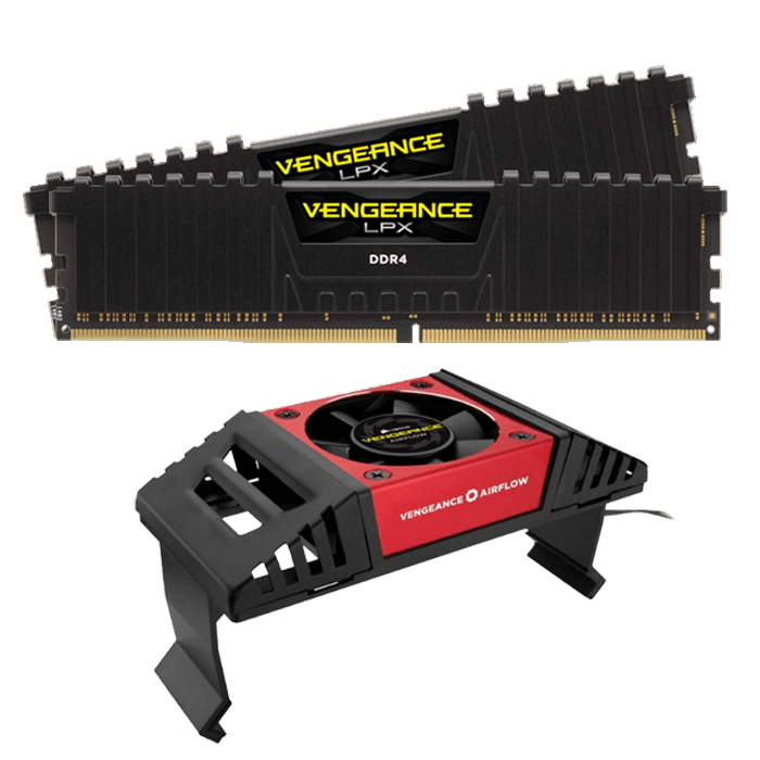 32GB Kit (2 x 16GB) Vengeance LPX DDR4 3200MHz, PC4-25600, CL16 (16-18-18-36) 1.2V, Non-ECC, Black, DIMM Memory