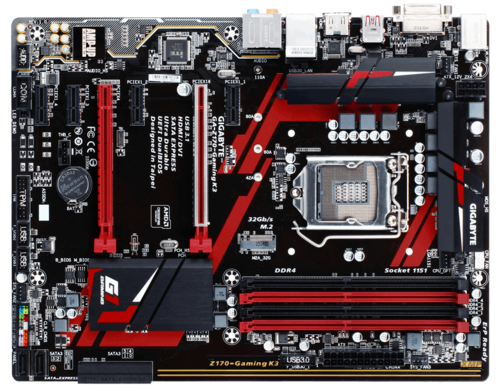 GA-Z170-GAMING K3, Intel Z170 Chipset, LGA 1151, DDR4 64GB, HDMI, M.2, USB 3.1, ATX Retail Motherboard