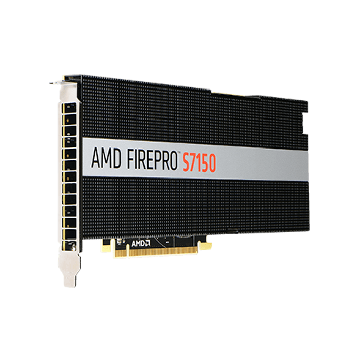 FirePro™ S7150 Server GPU, PCIe 3.0 x16, 150W, 8GB GDDR5, 256-bit, Full height / Full length