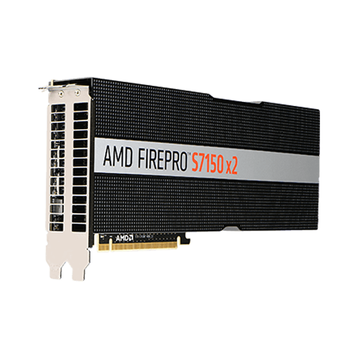 FirePro™ S7150 x2 Server GPU, PCIe 3.0 x16, 265W, 16GB (2x8GB), GDDR5, 256-bit, Full height / Full length