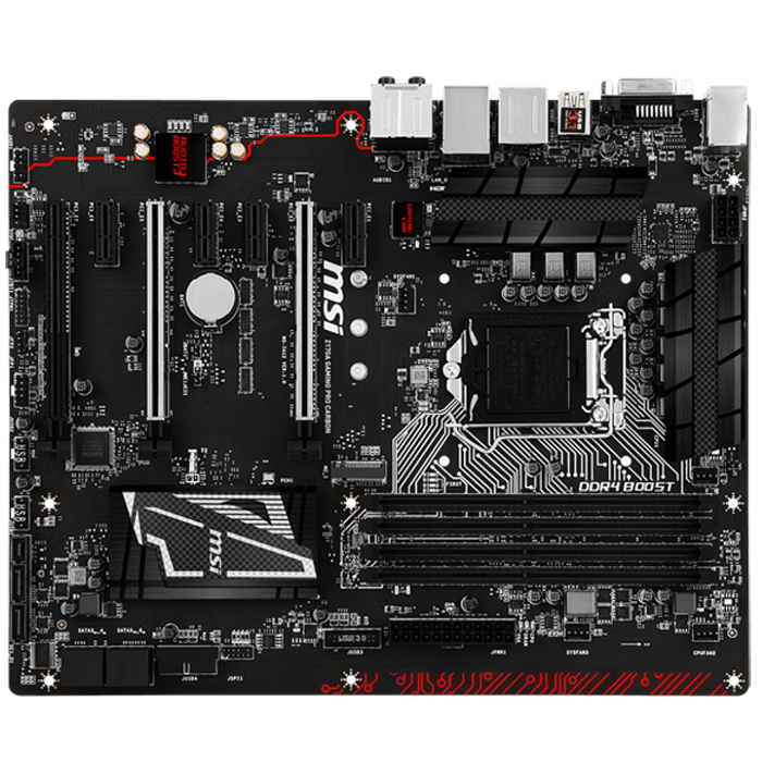 Z170A GAMING PRO CARBON, Intel Z170 Chipset, LGA 1151, DDR4 64GB, HDMI, M.2, USB 3.1, ATX Retail Motherboard