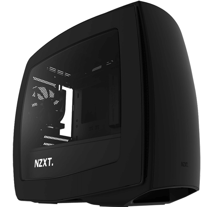 Manta Series CA-MANTW-M1 w/ Window, No PSU, Mini-ITX, Matte Black, Mini Tower Case
