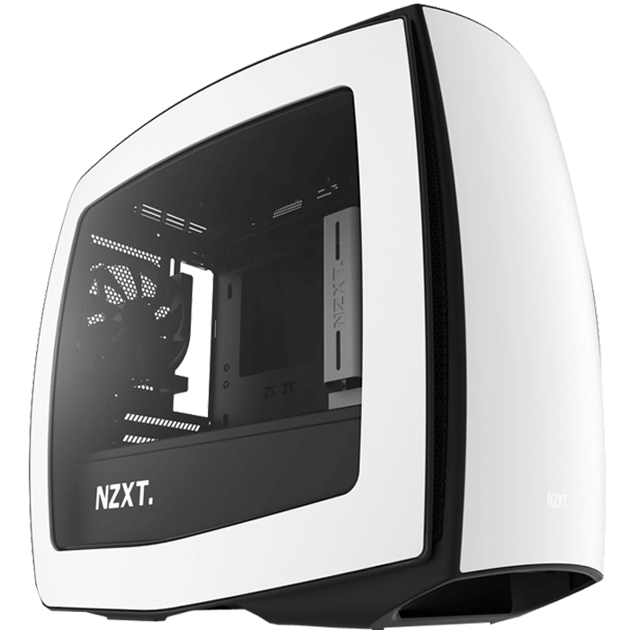 Manta Series CA-MANTW-W1 w/ Window, No PSU, Mini-ITX, Matte White, Mini Tower Case