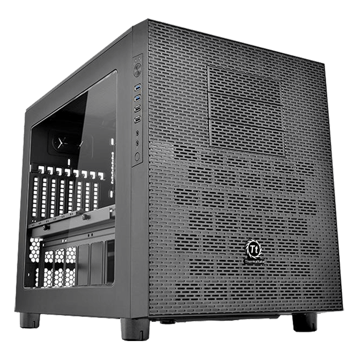 Core Series X5 w/ Window, No PSU, E-ATX, Black, Cube Case