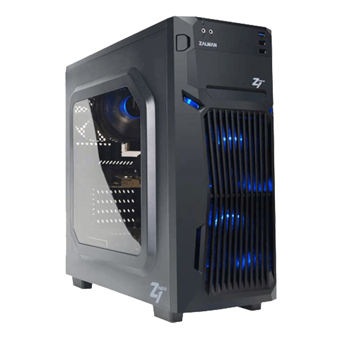 Z1 Neo w/ Window, No PSU, ATX, Black, Mid Tower Case