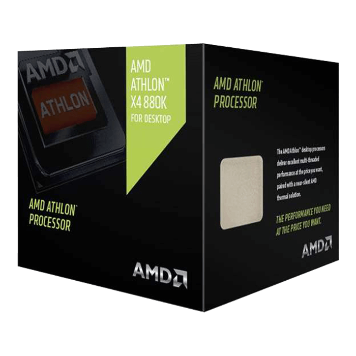 Athlon X4 880K Quad-Core 4.0 - 4.2GHz TB, FM2+, 4MB L2 Cache, DDR3, 28nm, 95W, w/ Quiet Cooler Retail Processor