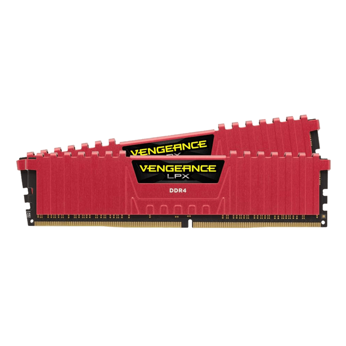 16GB Kit (2 x 8GB) Vengeance LPX DDR4 3000MHz, PC4-24000, CL15 (15-17-17-35) 1.35V, Non-ECC, Red, DIMM Memory
