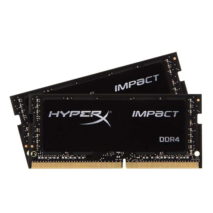 32GB Kit (2 x 16GB) HyperX Impact DDR4 2400MHz, PC4-19200, CL14 (14-14-14) 1.2V, Non-ECC, Black, SODIMM Memory