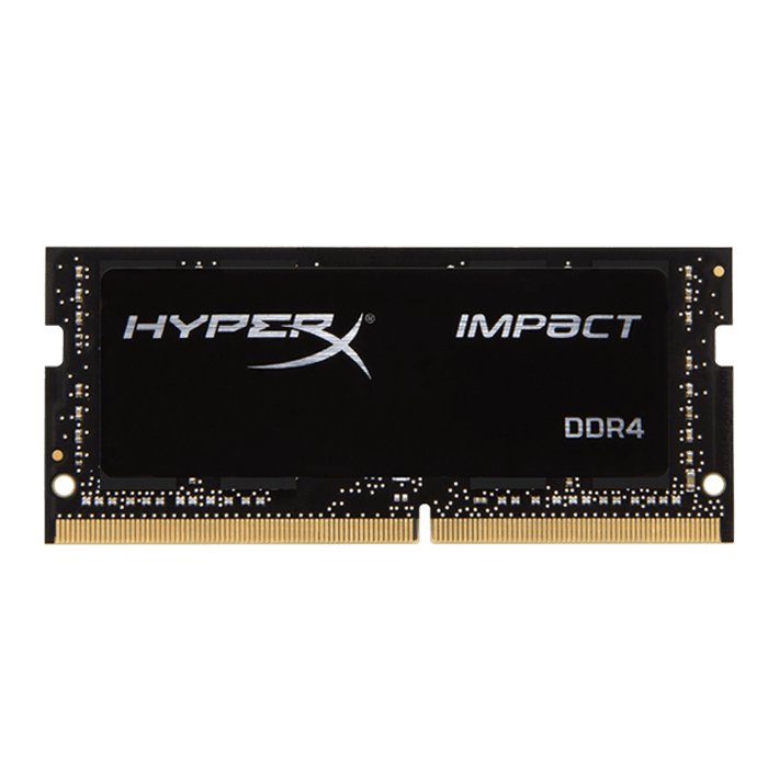 16GB HyperX Impact DDR4 2400MHz, PC4-19200, CL14 (14-14-14) 1.2V, Non-ECC, Black, SO-DIMM Memory