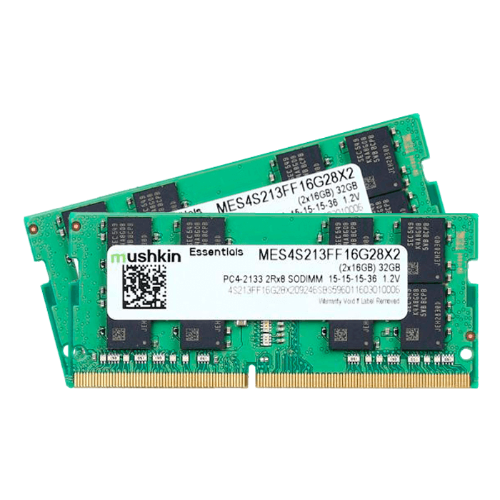 32GB Kit (2 x 16GB) Essentials DDR4 2133MHz, PC4-17000, CL15 (15-15-15-36) 1.2V, Non-ECC, SO-DIMM Memory