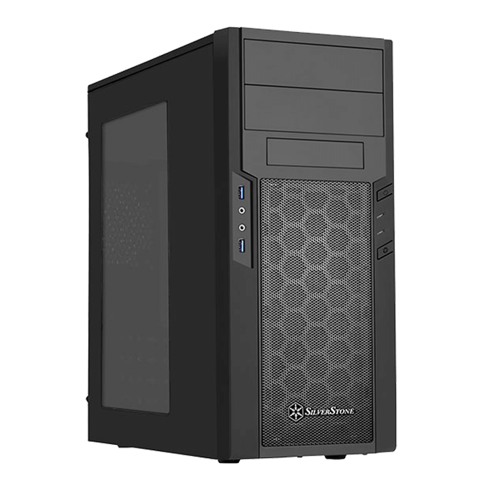 Precision Series SST-PS13B-W w/ Window, No PSU, ATX, Black, Mid Tower Case