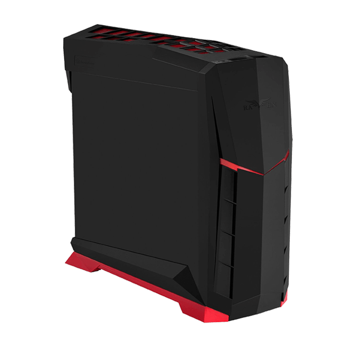 Raven Series SST-RVX01BR, No PSU, ATX, Black/Red, Mid Tower Case
